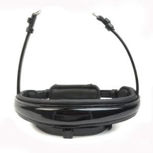 Neusriem S3 - zwart gelakt - trens - plat